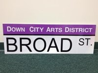 Way Finder Custom Street Sign