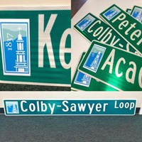 Square Logo Custom Street Sign