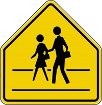 "S2-1 30""x30"" School Advance Warning with Sidewalk"