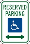 "R7-8 12""x18"" Reserved Handicapped Parking Sign"