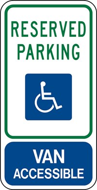 "R7-8b 12""x24"" Reserved Handicapped Symbol"