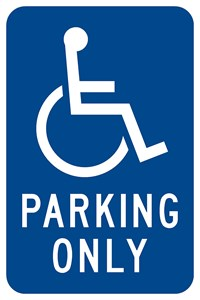 "RB-1 12""x18"" Handicapped Parking Only with symbol"