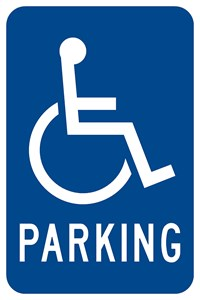"RB-1a 12""x18"" Handicapped Parking with symbol"