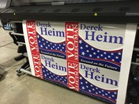 "LS 24""x18"" Lawn Sign - Political"