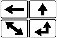 M6 Series Signs - Directional Arrow Auxiliaries