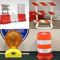 Cones, Drums,  Barricades & Water Barrier