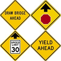 Traffic Signs & Safety - Warning Signs