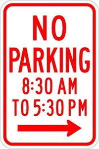 "R7-2 18""X24"" No Parking (with Time)"