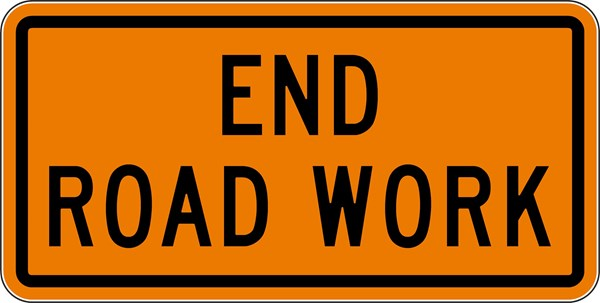 Traffic Signs Amp Safety G20 2 36 Quot X18 Quot End Road Work