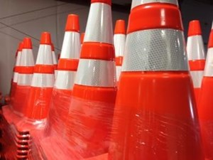 "28"" 7LB Orange PVC Cone Reflective Sheeting"