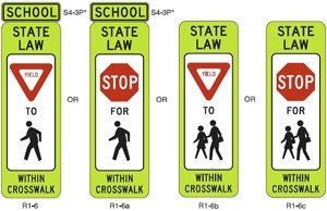 Traffic Signs Amp Safety R1 6 Base In Street Pedestrian
