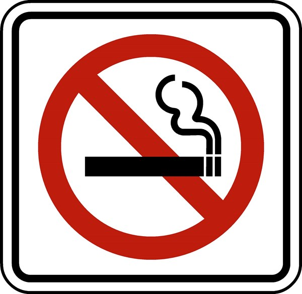 traffic signs safety in 21 12 x12 no smoking symbol